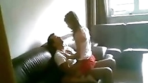 Dude Eats Out His GFs Pussy On The Sofa