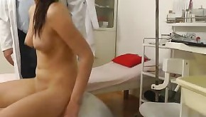 Teen vagina at gyno hospital checked by senior doctor on spy cam